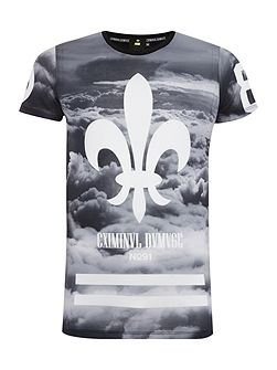 Regular Fit All Over Cloud Print T Shirt