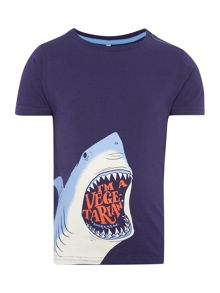 Joules Boys Vegetarian Shark Graphic T-Shirt