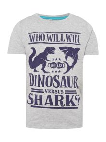 Joules Boys Dinosaur versus Shark graphic tee
