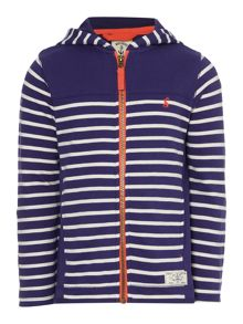 Joules Boys Stripe full zip hooded sweatshirt