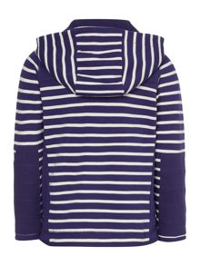 Boys Stripe full zip hooded sweatshirt