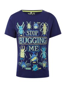 Joules Boys Stop bugging me glow in the dark tee