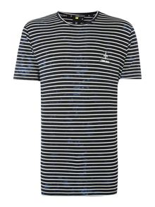 Criminal Damage Cristiano Longline Striped T Shirt