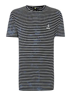 Cristiano Longline Striped T Shirt