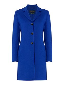 Alpaca bright long button up wool coat
