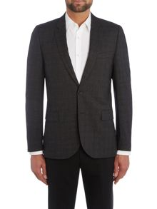 PS By Paul Smith Single Breasted Textured Suit Jacket