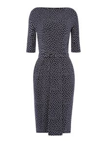 Max Mara Flo half sleeve printed jersey dress