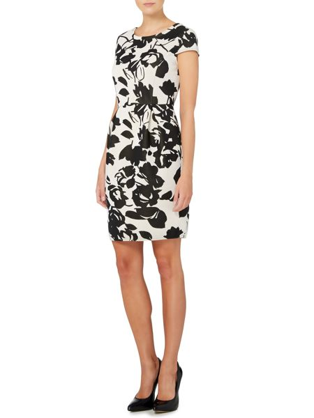 Max Mara Sabrina floral cap sleeve dress