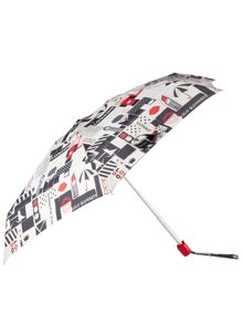 Lulu Guinness London visual print tiny umbrella