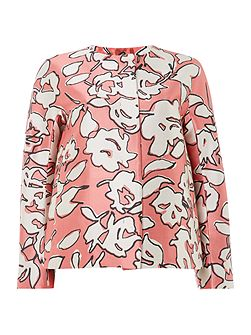 Acanto floral print long sleeve jacket