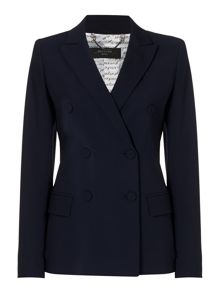 Max Mara Rostock double breasted wool blend blazer
