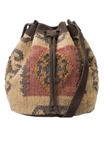 Ethnic bucket bag