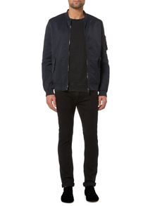 Label Lab Fletcher Baseball Neck Bomber Jacket