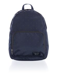 Backpack with all over logo print