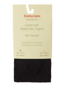 Emma Jane 60d maternity patterned opaque tights