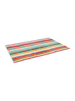 Bright stripe bath mat