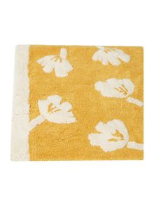 Dickins & Jones Mustard dandy floral bath mat