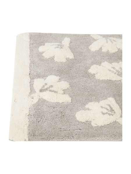 Dickins & Jones Grey dandy floral bath mat