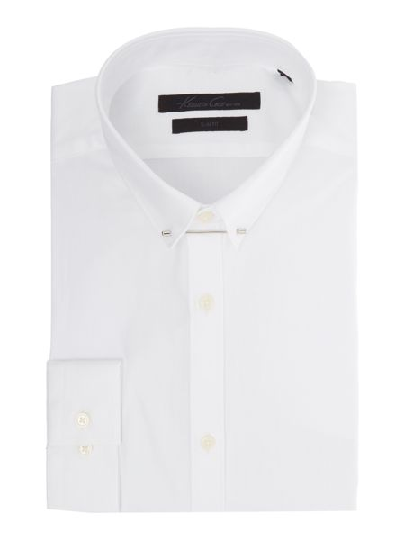 Kenneth Cole Russ Textured Shirt with Collar Bar