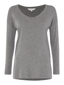 Gray & Willow Horseshoe scoop neck tee