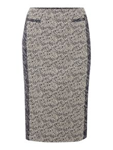Linea Contrast tweed pencil skirt