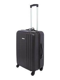 Nevada black 4 wheel medium suitcase