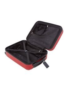 Nevada red 4 wheel cabin suitcase