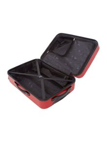 Nevada red 4 wheel medium suitcase