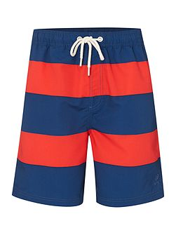 Rugby Stripe Swim Shorts
