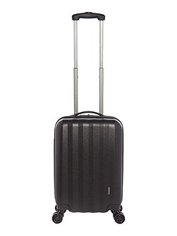 Orba black hard 8 wheel cabin suitcase