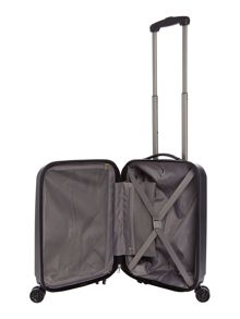 Linea Orba black hard 8 wheel cabin suitcase