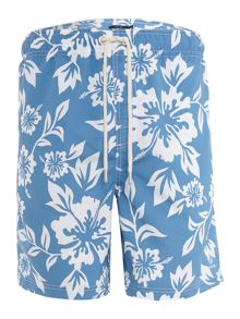 Howick Hawaiian Print Swim Shorts