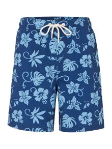 Howick 2 Tone Hawaiian Print Swim Short