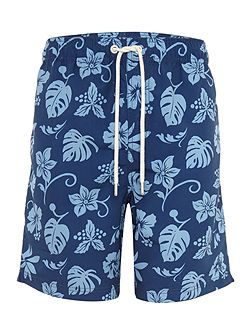 2 Tone Hawaiian Print Swim Shorts