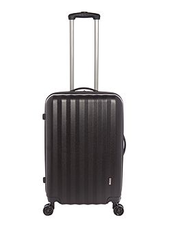 Orba black hard 8 wheel medium suitcase