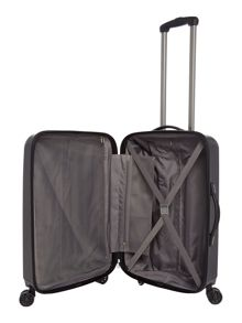 Linea Orba black hard 8 wheel medium suitcase