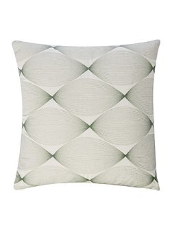 Embroidered swirl cushion