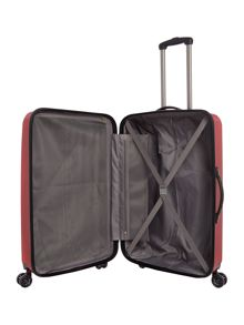 Linea Orba red hard 8 wheel large suitcase