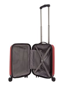 Linea Orba red hard 8 wheel cabin suitcase