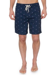 Howick Anchor Print Swim Shorts
