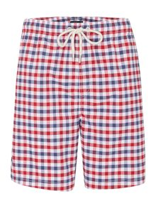 Howick Gingham Check Swim Shorts