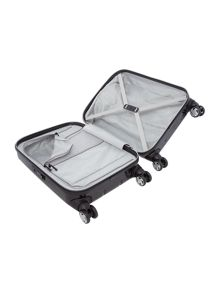 Movelite black 8 wheel hard cabin suitcase