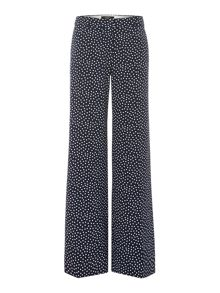 Anson polka dot wide leg trouser