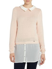 Lipsy Long Sleeved Knit with Shirt Collar