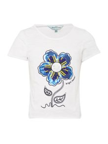 Little Dickins & Jones Girls Embellished little flower tee