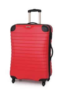 Shell red 4 wheel hard medium suitcase