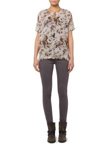 Ash print double layer top