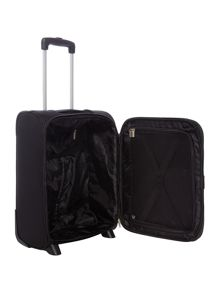 Linea Dartmouth black 2 wheel soft cabin suitcase
