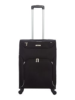 Dartmouth black 4 wheel soft medium suitcase