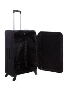 Linea Dartmouth black 4 wheel soft large suitcase